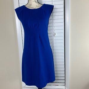 Banana republic blue form fitting dress